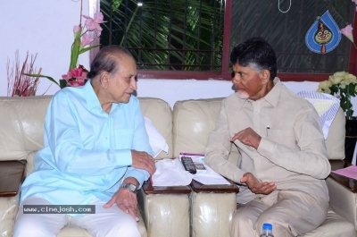 Chandrababu and Balakrishna Meet Superstar Krishna Family - 9 of 60