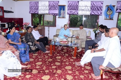 Chandrababu and Balakrishna Meet Superstar Krishna Family - 20 of 60