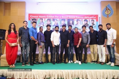 Cinema meets Cricket For A Good Cause Cancer Awareness Press Meet - 36 of 29