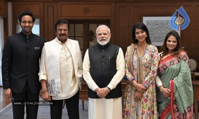 Mohan Babu Family Meets Modi - 4 of 4