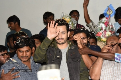 Mr Majnu Movie Team At Ashoka Theatre Rajahmundry - 5 of 8