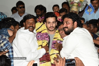 Mr Majnu Movie Team At Ashoka Theatre Rajahmundry - 6 of 8
