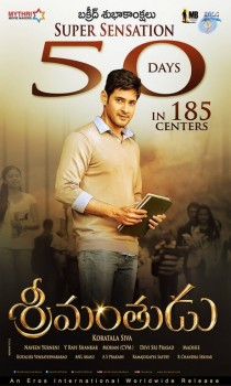 Srimanthudu 50 Days Wallpapers :24-09-2015