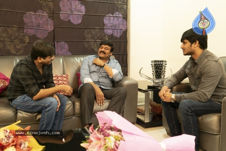 Chiranjeevi With Arjun Suravaram Team  - 9 / 9 photos