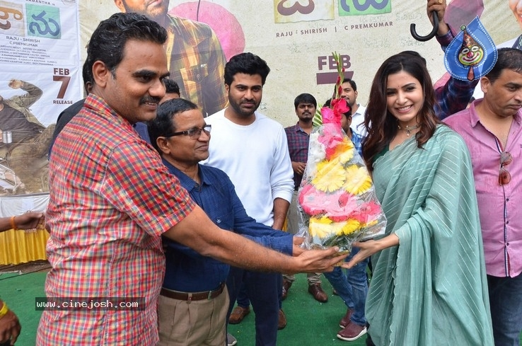 Jaanu Team At Raghu College - 6 / 17 photos