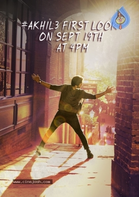 Akhil 3 First Look Release Date Poster - 1 of 1