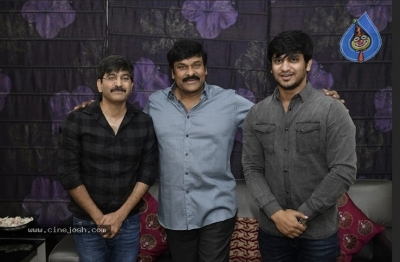 Chiranjeevi With Arjun Suravaram Team  - 1 of 9