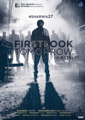 SHARWA27 Movie First Look Announcement Poster - 1 of 1
