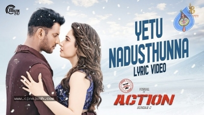 Yetu Nadusthunna Song Posters From Action Movie - 2 of 3