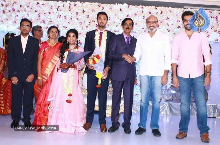 Actor Mano Bala Son Harish-Priya Wedding Reception - 12 / 57 photos
