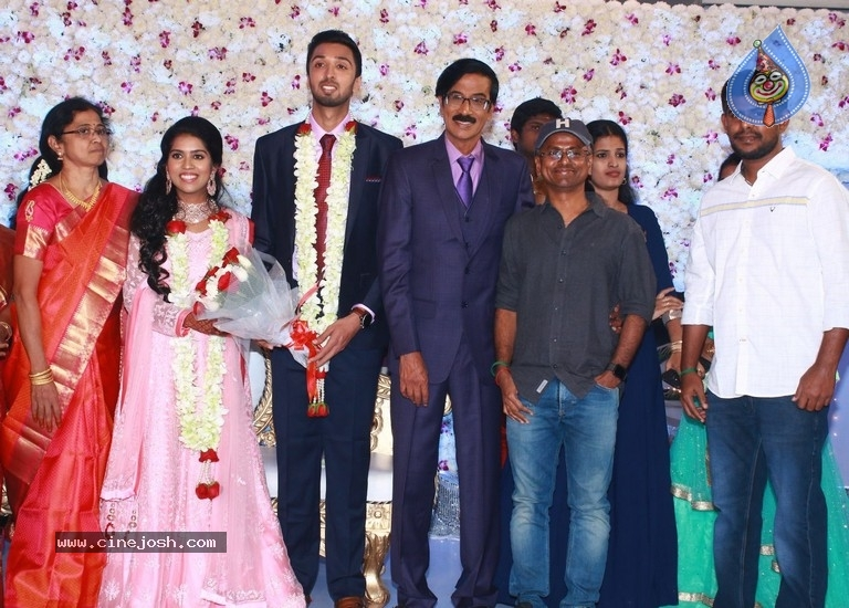 Actor Mano Bala Son Harish-Priya Wedding Reception - 13 / 57 photos