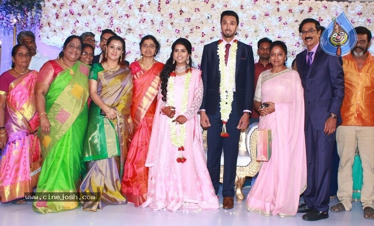 Actor Mano Bala Son Harish-Priya Wedding Reception - 15 / 57 photos