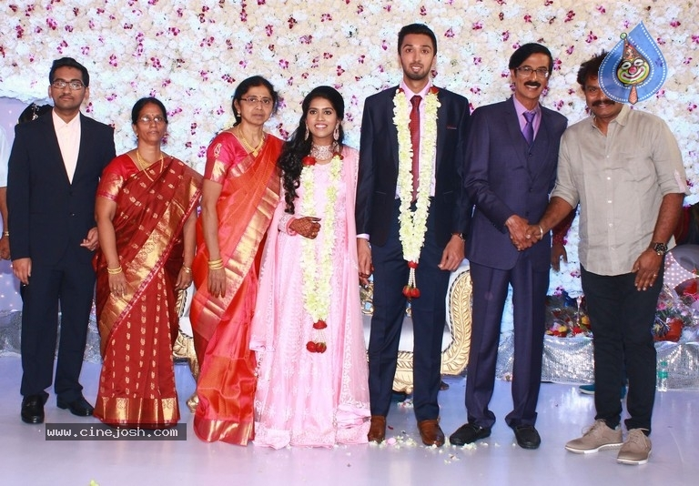Actor Mano Bala Son Harish-Priya Wedding Reception - 28 / 57 photos