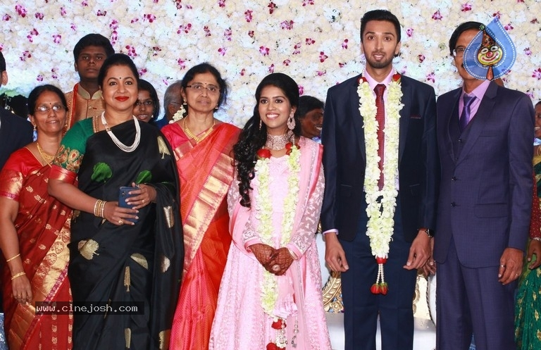 Actor Mano Bala Son Harish-Priya Wedding Reception - 37 / 57 photos