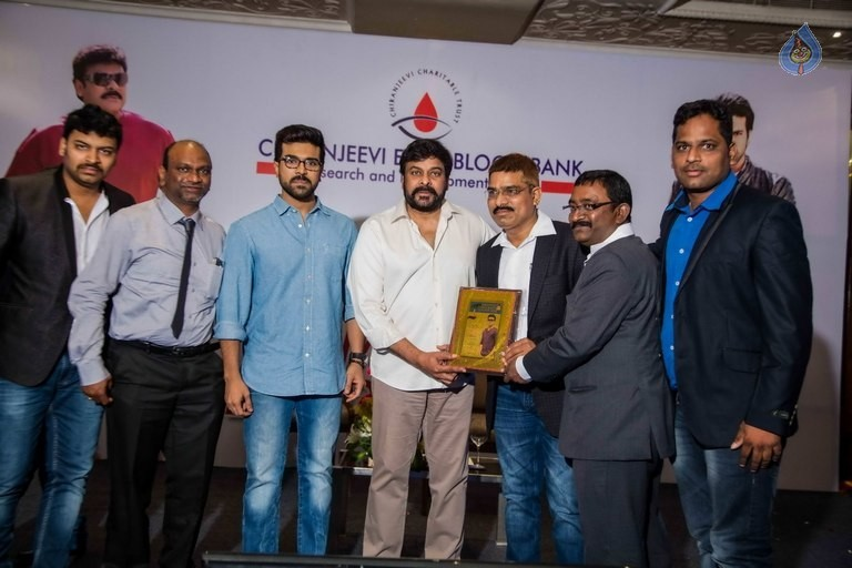 Chiranjeevi and Ram Charan Thanked The Blood Donors - 4 / 21 photos