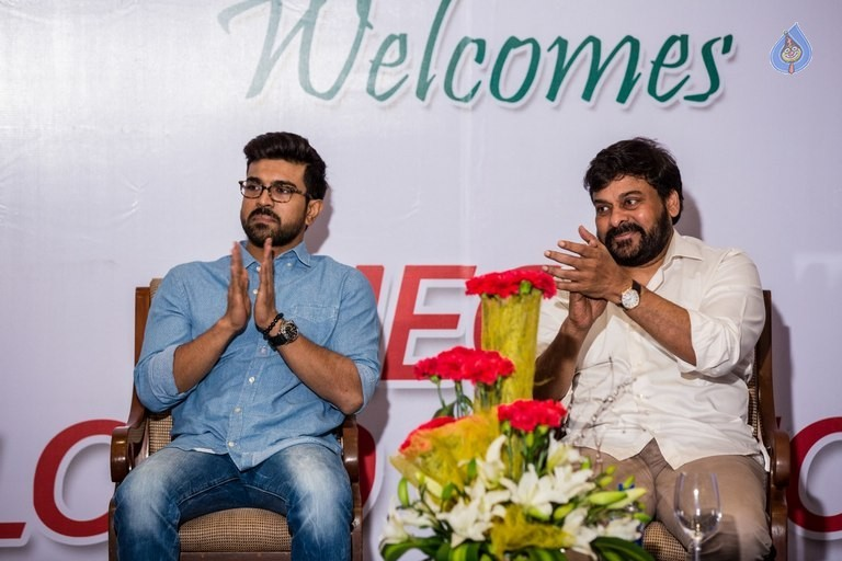 Chiranjeevi and Ram Charan Thanked The Blood Donors - 8 / 21 photos