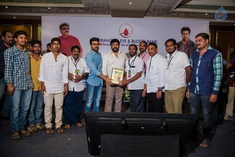 Chiranjeevi and Ram Charan Thanked The Blood Donors - 12 / 21 photos