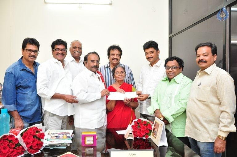 MAA Donate Cheque to Pavala Syamala - 21 / 29 photos