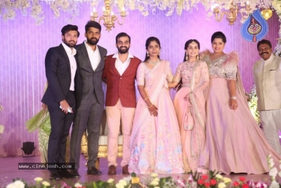 Celebrities at Harshit Reddy Wedding Reception - 40 of 65