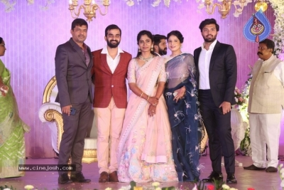 Celebrities at Harshit Reddy Wedding Reception - 60 of 65
