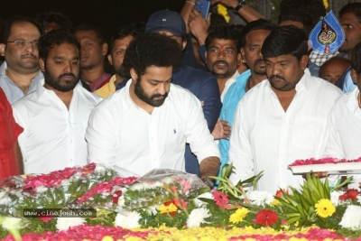 NTR and Kalyan Ram visit NTR Ghat on NTR Death Anniversary - 23 of 42