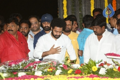 NTR and Kalyan Ram visit NTR Ghat on NTR Death Anniversary - 32 of 42