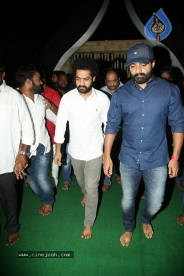 NTR and Kalyan Ram visit NTR Ghat on NTR Death Anniversary - 34 of 42