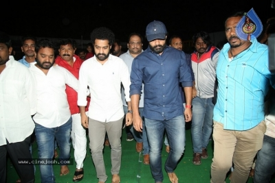 NTR and Kalyan Ram visit NTR Ghat on NTR Death Anniversary - 35 of 42