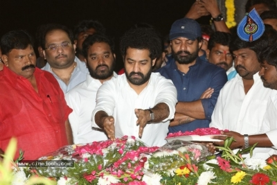 NTR and Kalyan Ram visit NTR Ghat on NTR Death Anniversary - 36 of 42