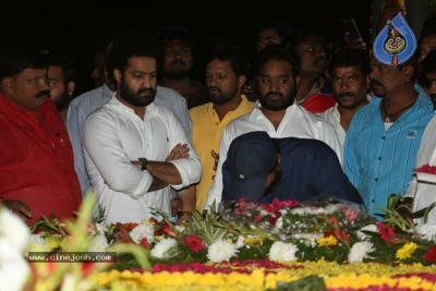 NTR and Kalyan Ram visit NTR Ghat on NTR Death Anniversary - 37 of 42