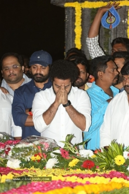 NTR and Kalyan Ram visit NTR Ghat on NTR Death Anniversary - 38 of 42