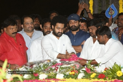 NTR and Kalyan Ram visit NTR Ghat on NTR Death Anniversary - 39 of 42
