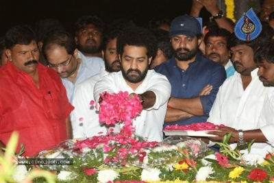 NTR and Kalyan Ram visit NTR Ghat on NTR Death Anniversary - 41 of 42