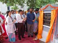 RV Chanderavardan laying the foundation stone