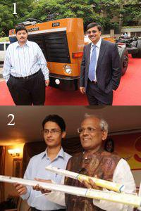 Launching new Ashok Leyland and Surya bulbs