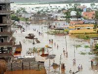 Heavy rains in Vijayawada...