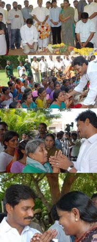 YS jagan paying triubutes to YSR samadi