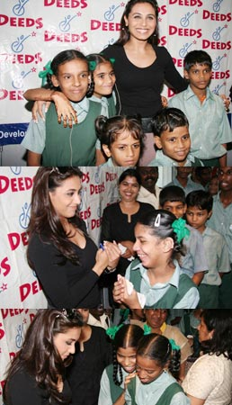 Rani Mukherjee at Deeds charity event