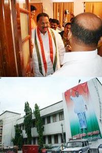 D Srinivas addressing media