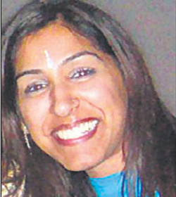Beautiful Indian receptionist murdered in London.