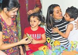 Junior Mahesh Babu and Junior Manjula.