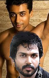 Hero Surya fighting with his brother Karthi.