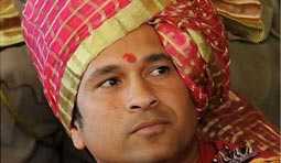 Sister sentiment for Sachin at Gwalior.