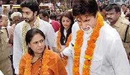 Big B cheats Srisailam temple?