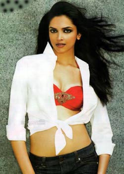 Deepika playing with new toys!!