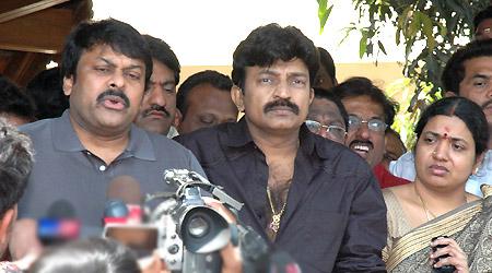Mega Fans make merry of Rajasekhar