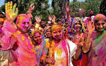 Babu enjoys a dance on Holi