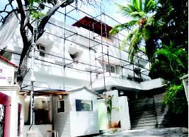 Rajini's house under renovation