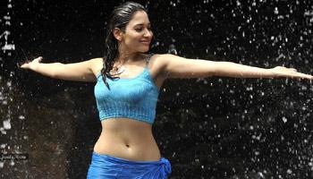 Tamanna's Sensation in Rain Songs