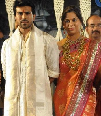 Charan & Upasna seek Balaji blessings